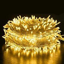 Fairy Krans LED Strings Licht Waterdicht Kerstboom Huis Binnen Buiten Tuin Bruiloft Decoratie - Yellow100m600lights