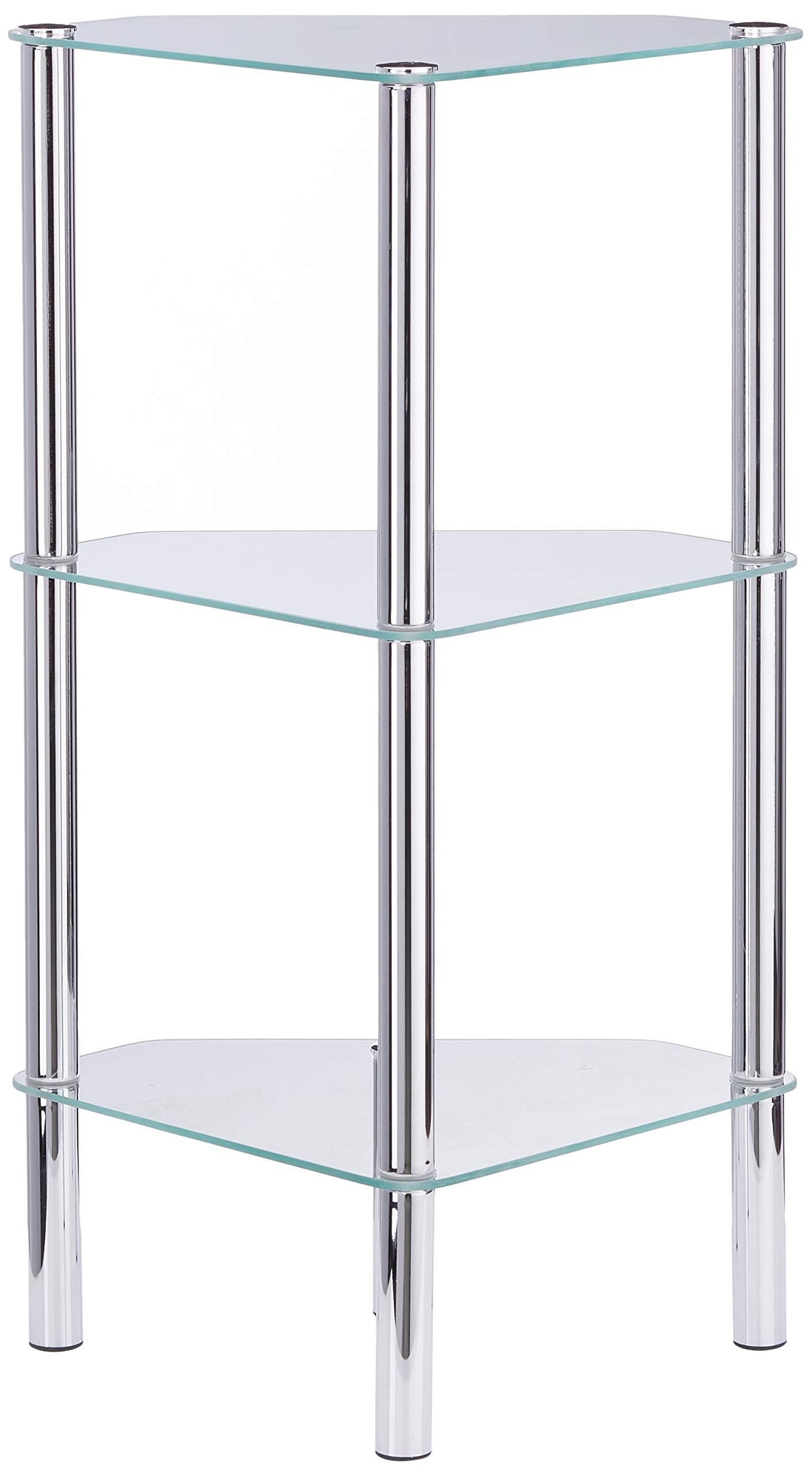 Haku Möbel mesa de vidrio cuadrada en aspecto cromado, altura 47 cm: Amazon.es: Hogar
