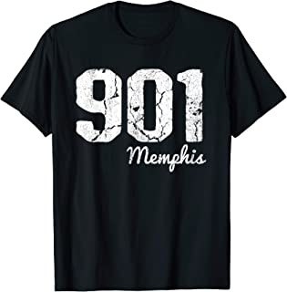 901 Area Code Memphis TN Tennessee City Vintage T-Shirt
