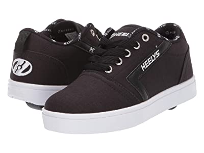 Heelys GR8 Pro (Little Kid/Big Kid) (Black/White/Rip Stop) Boys Shoes