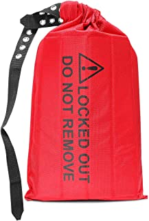 WISAMIC Cinch Sack Lockout, Lockout Tagout Bag, 17.7 inches Height, 9.6 inches Diameter