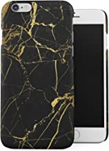DODOX Glamorous Black and Gold Marble Stone Print Case Compatible with Apple iPhone 6 Plus/iPhone 6S Plus Snap-On Hard Plastic Protective Shell Cover Carcasa
