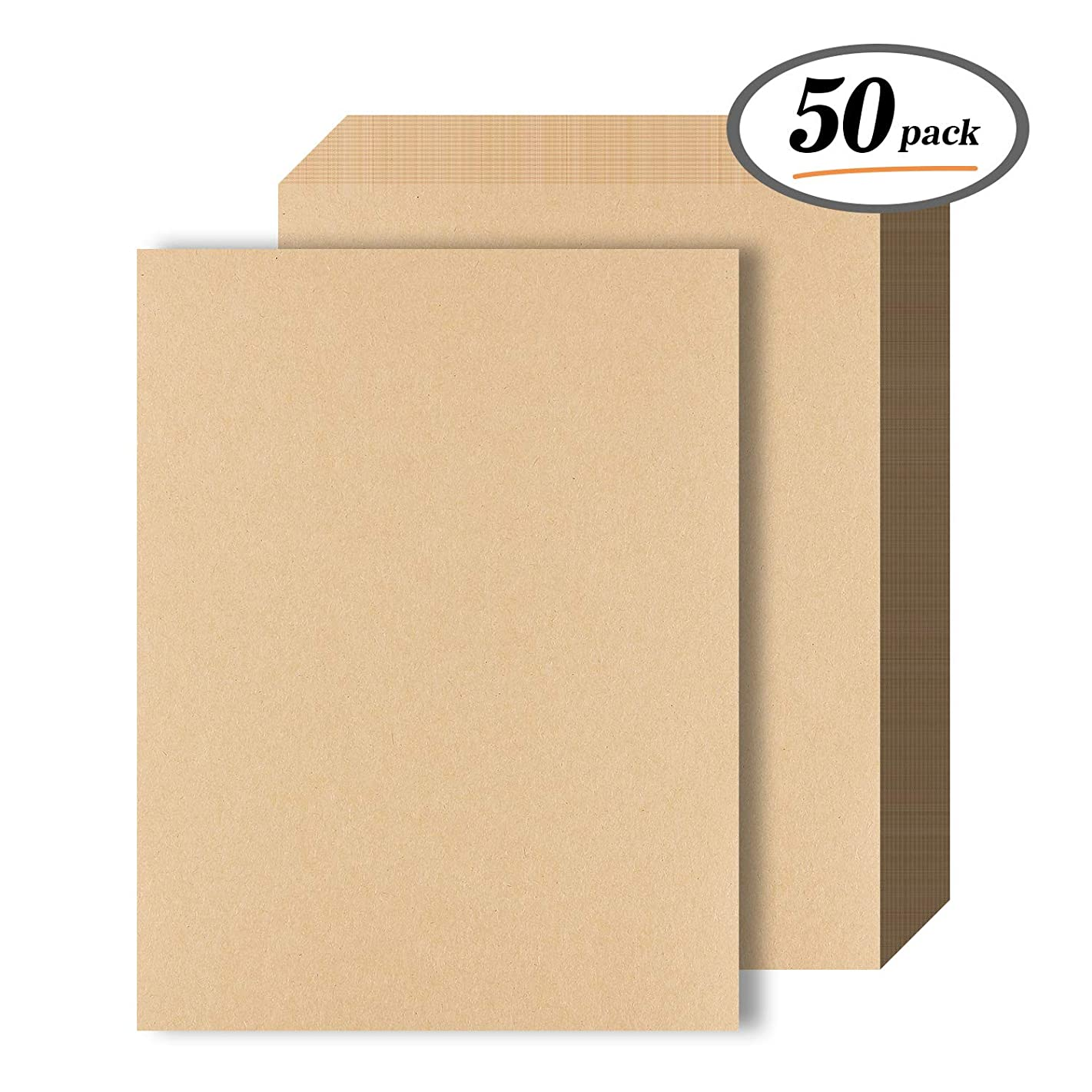 Kraft Paper – 50 Sheets 120 GSM Letter Sized Brown Stationery Paper for Arts, Crafts, and Office Use