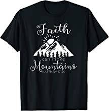 Christian Faith Can Move Mountains Jesus Bible Religious T-Shirt