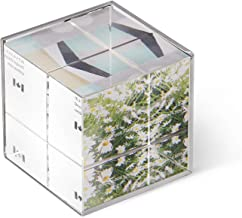 إطار صورة مكعب زجاج كريستال من أومبرا آيس - يحمل 3 صور، نيكل