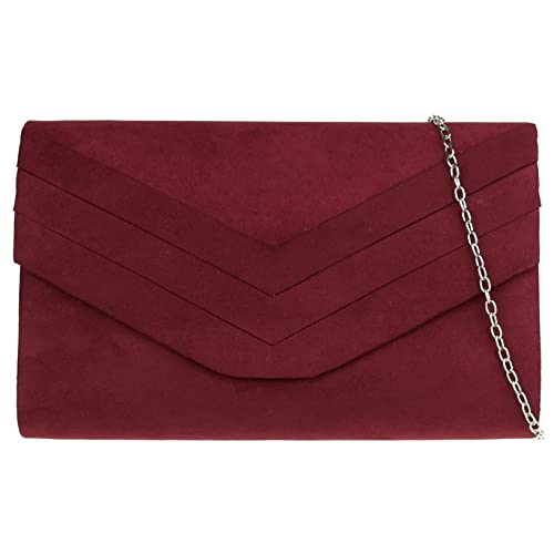 43cc9dc53e1 Girly HandBags Plain Faux Suede Clutch Bag