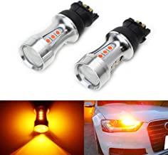 iJDMTOY (2) Extremely Bright Amber Yellow Error Free PWY24W LED Bulbs For Audi A3 A4 A5 Q3 BMW i3 MINI Cooper F55 F56 Mercedes GLK Front Turn Signal Lights