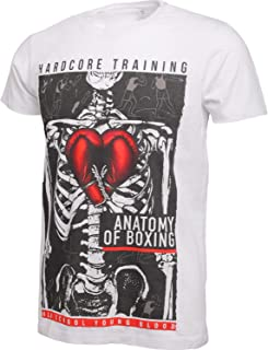 Anatomy of Boxing T-Shirt Men's Camiseta Hombre Fitness Workout Ejercicio Corriendo Running Ropa Basica Deportiva