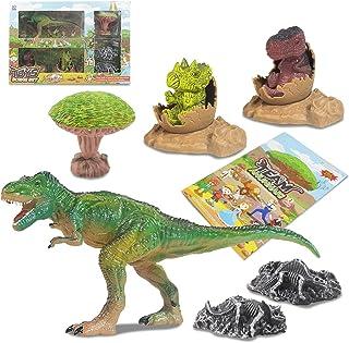 Dorakitten Kids Dinosaur Toy Set Funny Plastic Dinosaur Scene Toys Dinosaur Fossil Toys PVC(Polyvinyl chloride) plastic