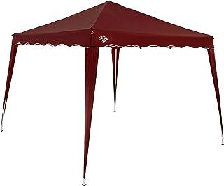 comprar comparacion Deuba Pabellon de Jardin cenador Capri Rojo 3x3 m Carpa Plegable de jardín Impermeable y Pop Up para Eventos Camping