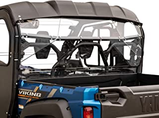 SuperATV Lightly Tinted Polycarbonate Rear Windshield for Yamaha Viking (2013+) - Easy to Install!