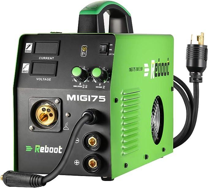 Soldador MIG REBOOT MIG175 de gas y sin gas DC 220 V