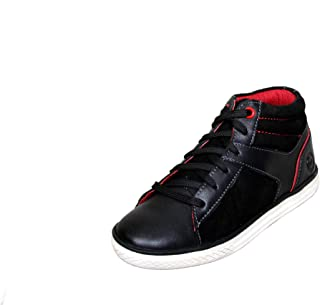 MARDI GRAS Youth Leather Shoes-Black-3781