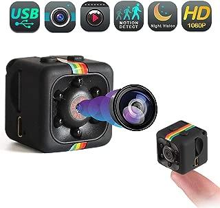 Mini Spy Hidden Camera - Portable Small Wireless Camera, Motion Detection USB Surveillance Cam, Nanny Cameras and Hidden Cameras, 1080p HD Recording IR Night Vision Monitoring Camera - Mini Spy Camera