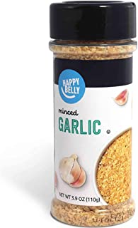 Amazon Brand - Happy Belly Garlic, Minced, 3.9 Ounces