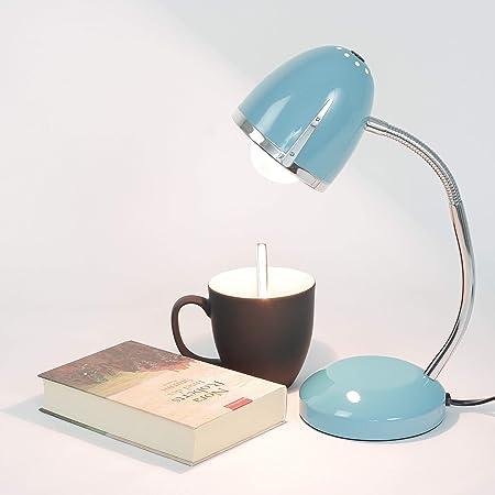 Desk Lamp Blue E27 Up To 18 W 230 V Metal Table Lamp Office Lamp Study Lamp Lighting Retro Design Reading Light Craft Lamp Children S Room Light Amazon De Beleuchtung