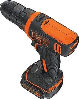 Black+Decker 10.8V 1.5Ah Li-Ion Cordless Ultra Compact 11 Clutch Drill Driver , Orange/Black - BDCDD12-B5, 2 Years Warranty