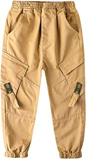 ZRFNFMA Ropa de niños, Pantalones de niños Grandes, Primavera y otoño Pantalones Casuales, Ropa para niños, Pantalones Cas...