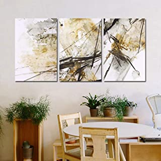 ZXCVWY 3 Panels Modern Abstract Oil Painting On Canvas Wall Art Printed Posters Abstract Ink Decorative Paintings For Livi...