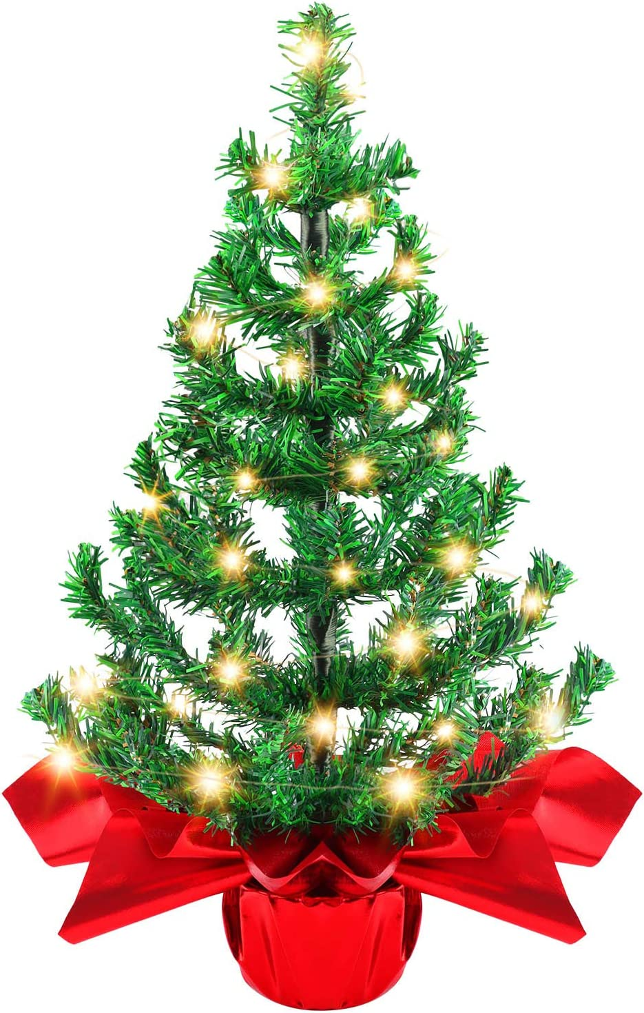 Becoyou Small Christmas Tree with Ornaments Mini Max 85% OFF shopping