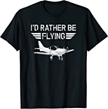 Distressed I'd Rather Be Flying Funny Airplane Pilot TShirt