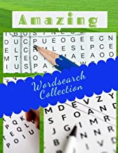 Amazing Wordsearch Collection: Relax and Solve, Word Search, Easy-to-see Full Page Seek and Circle Word Searches to Challenge Your Brain.