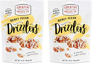 Creative Snacks Honey Pecan Drizzlers Granola Clusters Drizzled with Vanilla Yogurt, 2 pk, 10 Ounce Bags