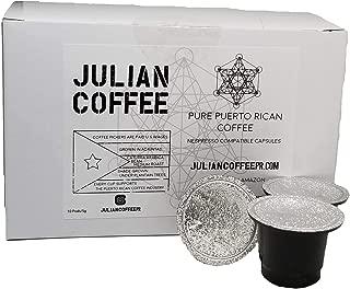 Julian Coffee - Nespresso Capsule, Specialty Puerto Rican Coffee (20 count)