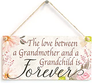Meijiafei The Love Between a Grandmother and a Grandchild is Forever - Beautiful Meaningful Gift Sign for Gran Family Retirement Sign 10