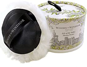 Woods Of Windsor Lily Of The Valley Body Dusting Powder With Puff for Women, 3.5 Ounce
