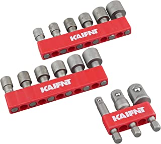 37-Hole 1//4-Inch Bit and Bit Adapter KAIFNT K701 Hex Bit Organizer with Magnetic Base
