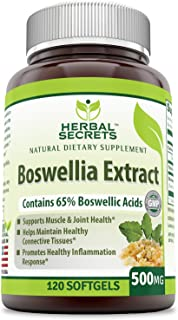 Herbal Secrets Boswellia Extract Contains 65% Boswellia Acids - 500 Mg, 120 Softgels (Non-GMO) - Supports Muscle & Joint Health - Helps Maintain Connecting Tissues*