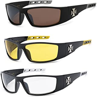 c883e56adb New 3 Pairs Choppers Motorcycle Riding Biker Sports Sunglasses 4 Color  Available (Smoke