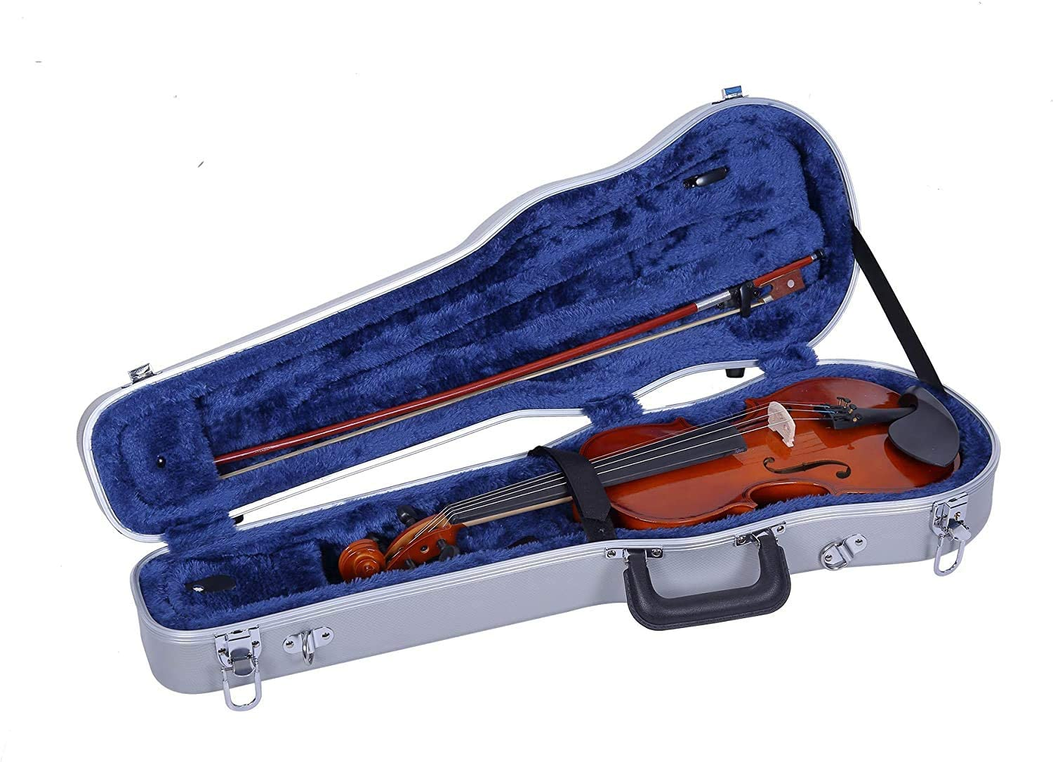 Crossrock, ABS Molded Case-1/4Size Violin Hard Shell Case, Silve