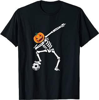Funny Halloween Costume Dabbing Skeleton Soccer Gift T-Shirt