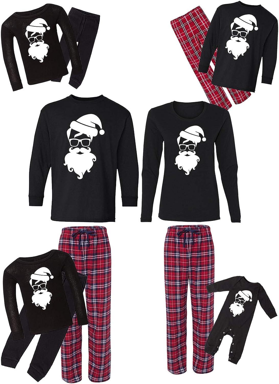 Awkward Styles Family Christmas Pajamas Set Red Santa Hipster Matching Sleepwear
