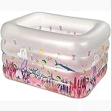 Piscina inflable,Piscina portátil rectangular con fondo de burbuja Piscina infantil con fondo de bañera de calor espesado Piscina de bolas oceánicas sólidas fácil de limpiar y fácil de almacenar