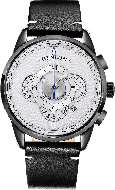 BINLUN Men's Watch Sports Chronograph Unique overseas Qu Finally popular brand Designer Stylish