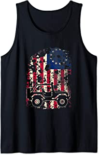 Vintage Betsy Ross Flag Off Road Jeeps Drivers Tank Top