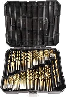 Yaegoo Titanium Twist Drill Bit Set - 230 Pcs High Speed Steel with Storage Case for Steel, Wood, Plastic, Metal, Copper, ...