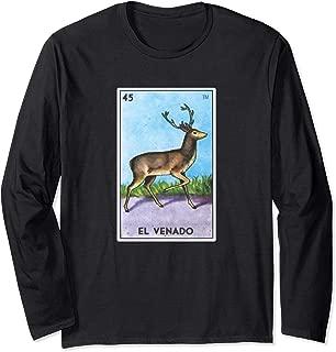 El Venado Loteria Long Sleeve Shirt Mexican Bingo Deer