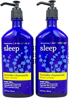 Bath Body Works Aromatherapy Sleep Lavender Chamomile 6.5 oz Body Lotion - 2 PACK