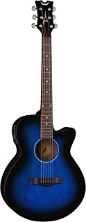 Dean Guitars 6 String Acoustic-Electric Guitar, Right Handed, Blue Burst (AX PE BB)