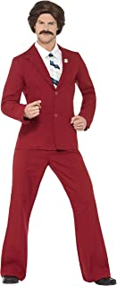 Men's Anchorman Ron Costume L Burgundy