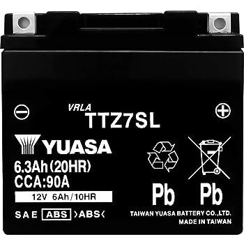台湾製 バイクバッテリー 初期補充電済 YUASA 純正互換品 (TTZ7SL / YTZ7S / YTZ6 / YTZ5L-BS / GT6B-3 / GTZ5L-BS / FTZ7S / FTZ5L-BS 互換)
