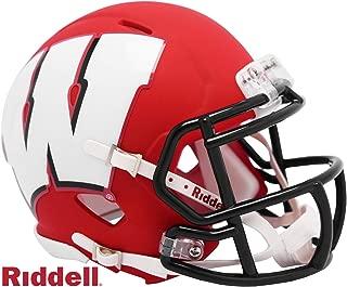Wisconsin Badgers - AMP Alternate Speed Riddell Mini Football Helmet - New in Riddell Box