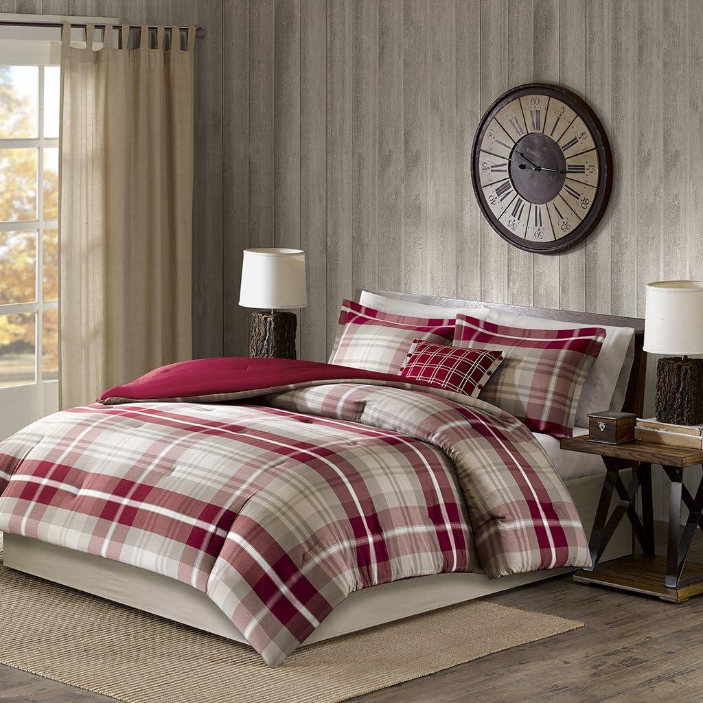 35% OFF Woolrich Sheridan Oversized Cotton Comforter Red Set favorite Full Tan