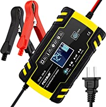 12V 8Amp/24V 4Amp Automotive Smart Battery Charger/Maintainer for Car, Truck, Motorcycle, Lawn Mower, Boat, RV, SUV, ATV and More