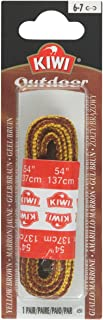 Kiwi Outdoor Boot Laces, 54-inch, Round, Brown