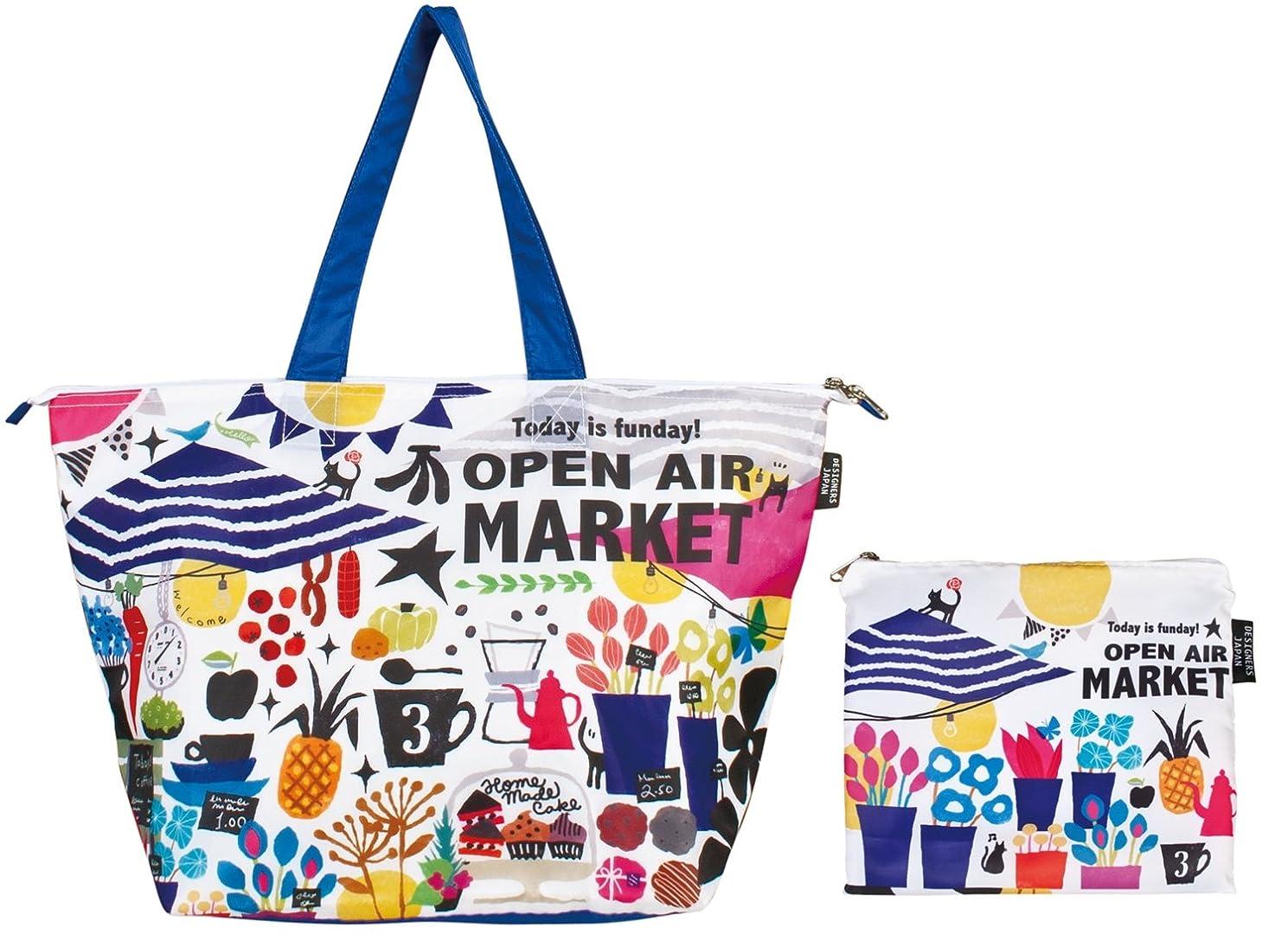 むしろ極小突き出すプレーリー エコバッグ デザイナーズコラボ ショッピングバッグ(簡易保冷機能付) open air market(中村メグミ) DJH-002N
